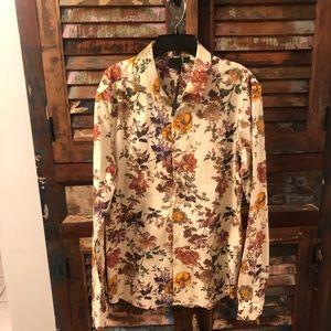 ASOS women's Floral Button Down Shirt Blouse